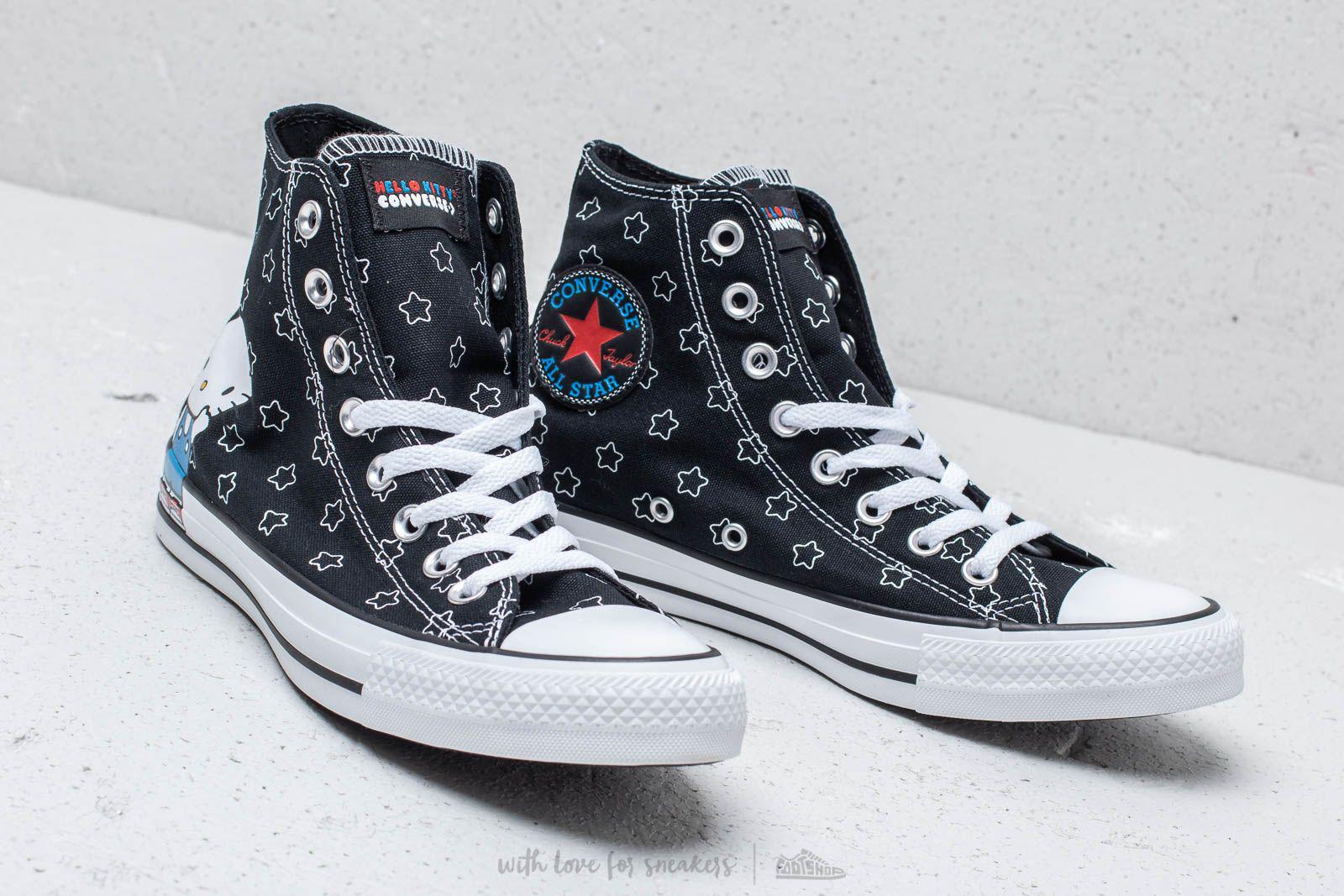 beb5ff9674bb5a Lyst - Converse X Hello Kitty Chuck Taylor All Star Hi Black  White ...