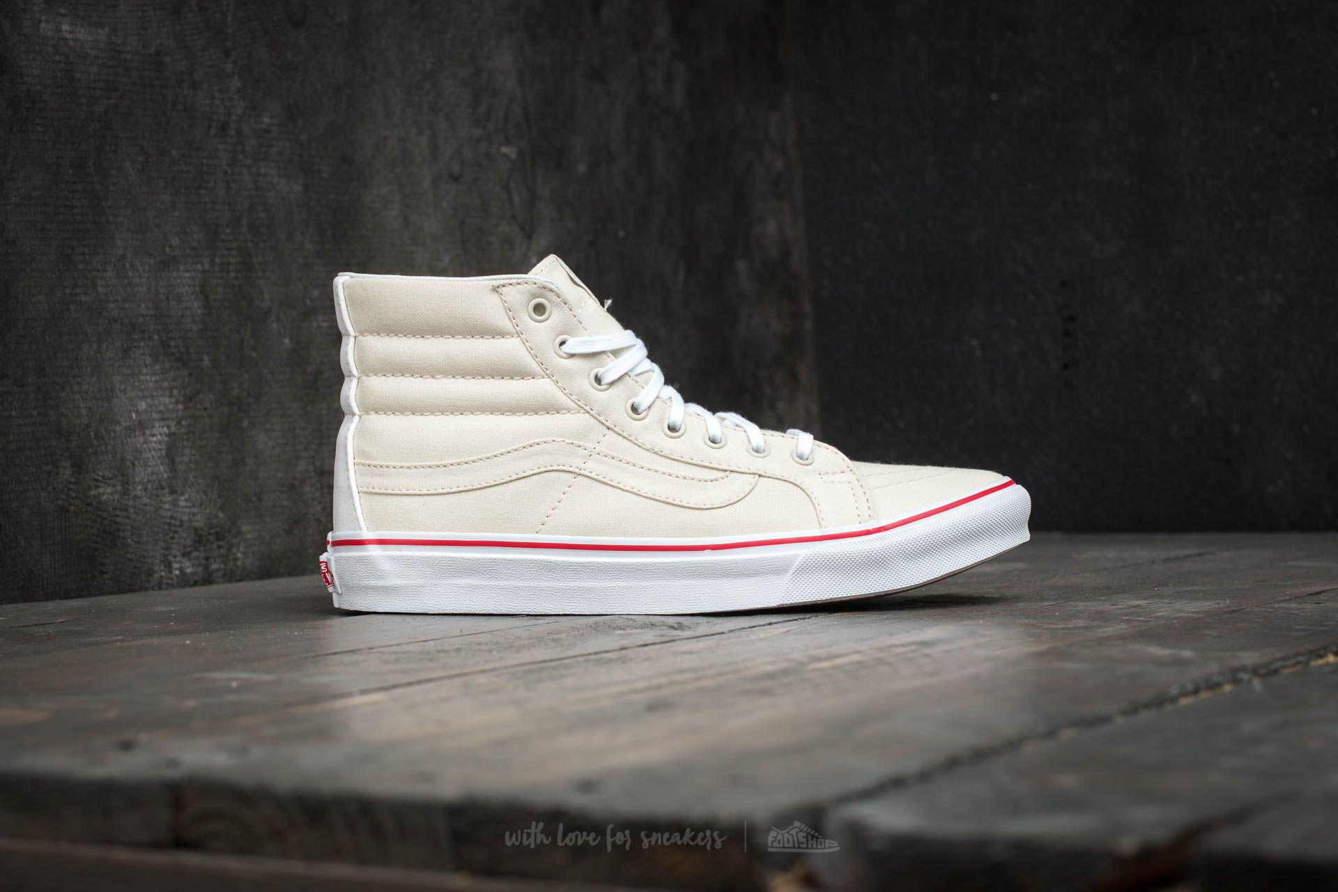 58e5ab5bb9 Lyst - Vans Sk8-hi Slim (leather Canvas) Bone  True White for Men