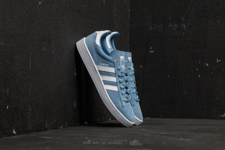 Lyst - adidas Originals Adidas Campus Ash Blue  Ftw White  Ftw White ... baed1cc2ef76b