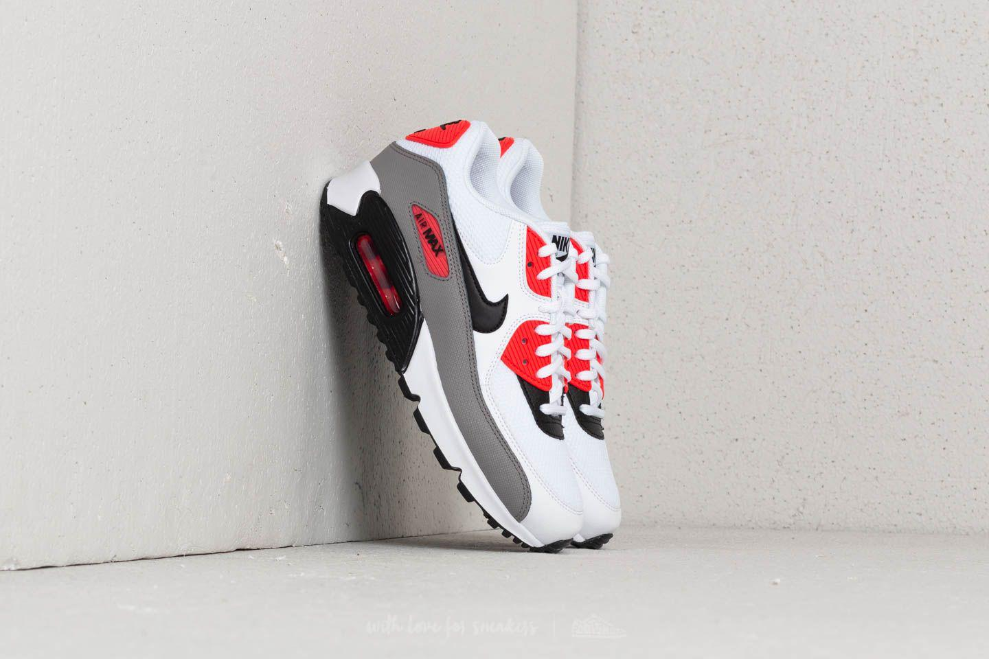 Nike. Men's Wmns Air Max 90 White/ Black-dust-solar Red