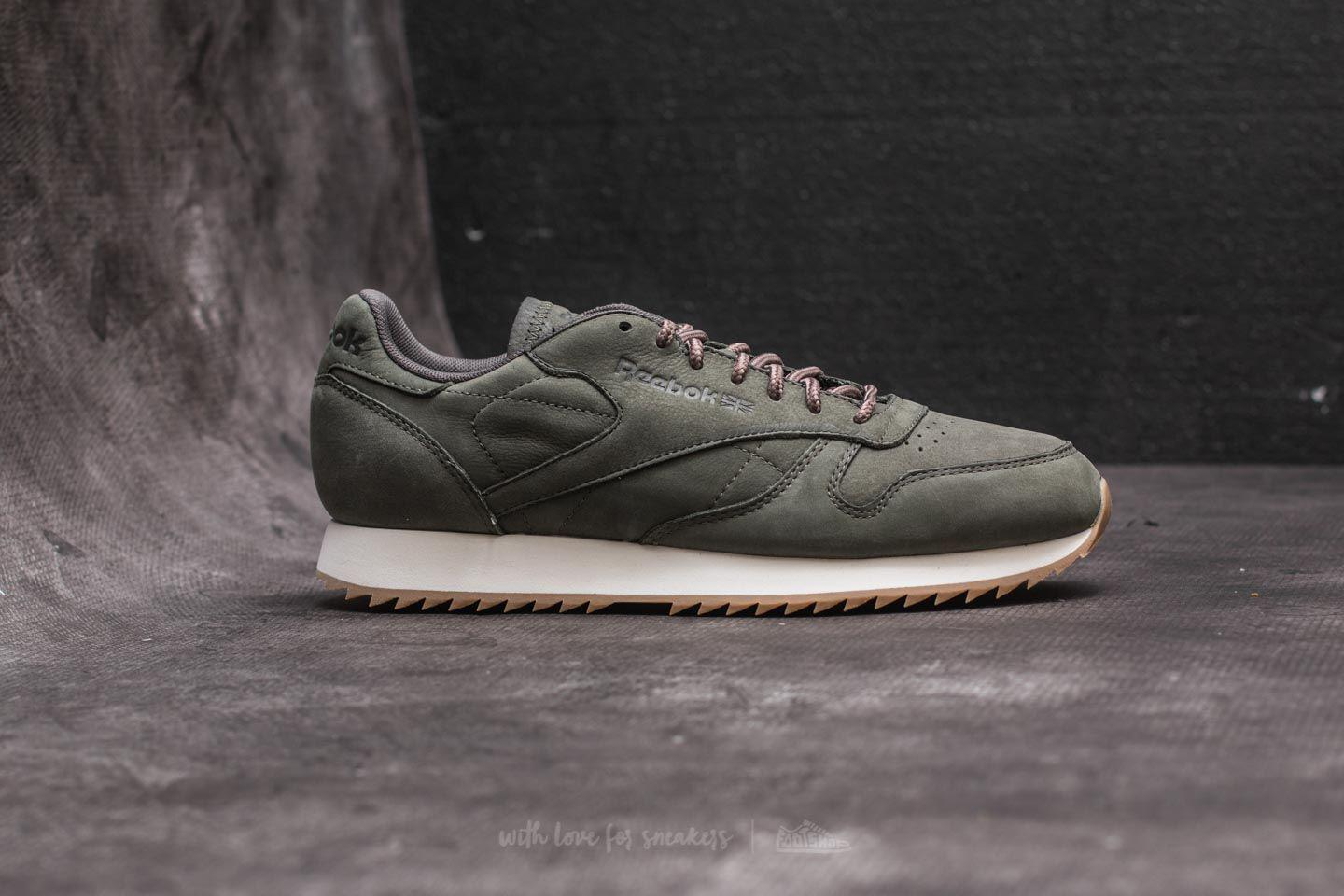 87d9ccc0e30 Lyst - Reebok Leather Ripple Wp Hunter Green  Urban Grey in Gray for Men