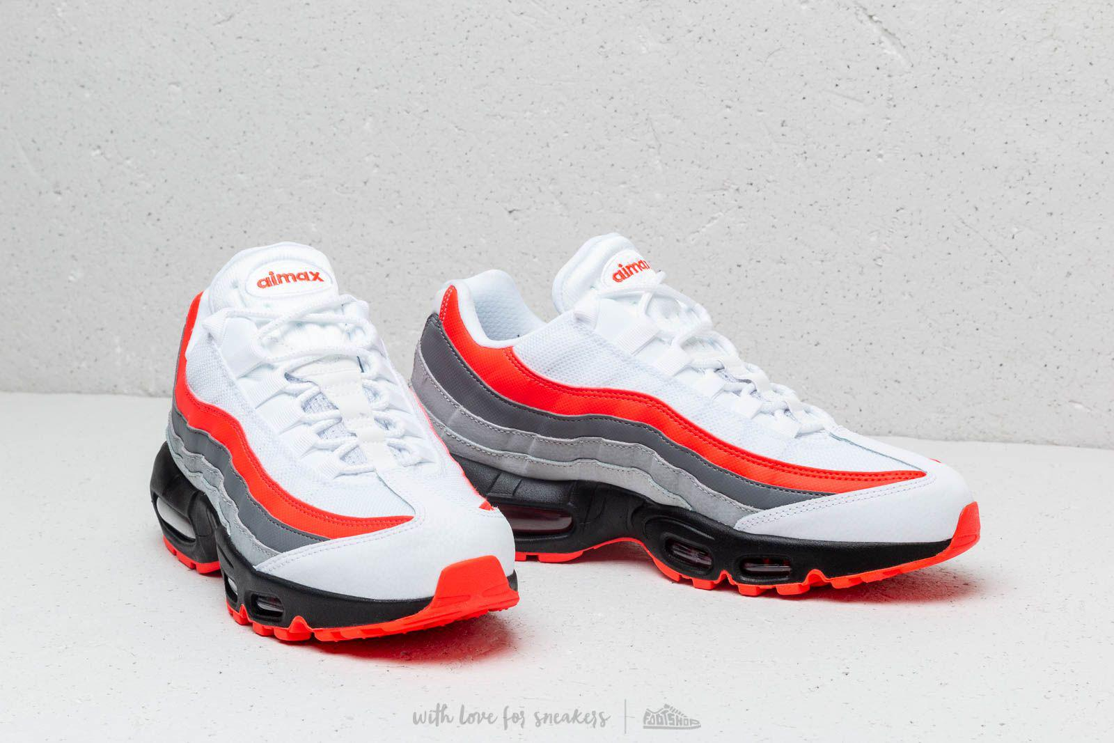 huge selection of 7cd9d a230e Nike Air Max 95 Essential White  Bright Crimson-black-pure Platinum ...