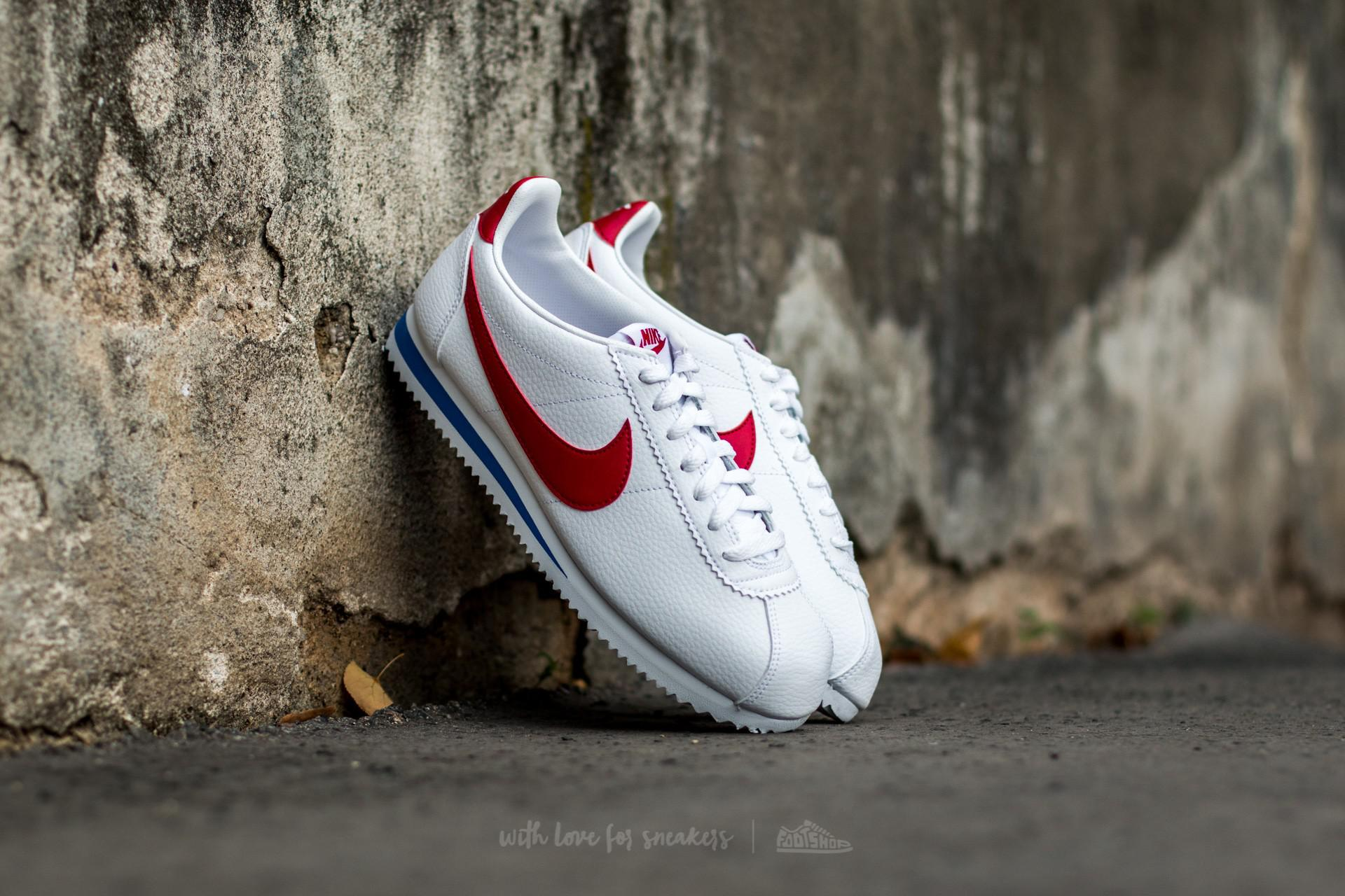 ebe2384220522b Lyst - Nike Classic Cortez Leather White  Varsity Red-varsity Royal ...