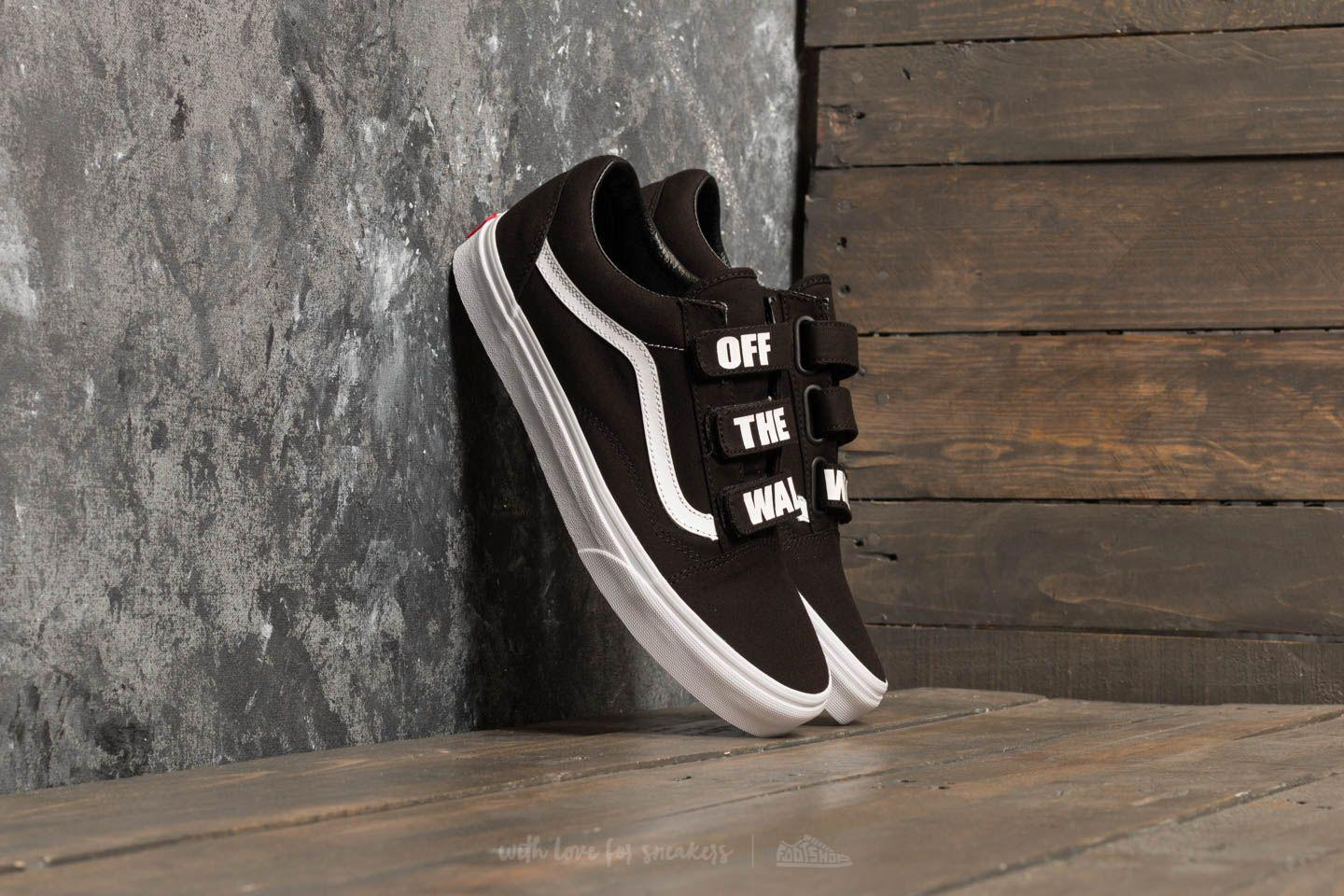 8d2fc9f870e Lyst - Vans Old Skool V (off The Wall) Black  True White in Black ...
