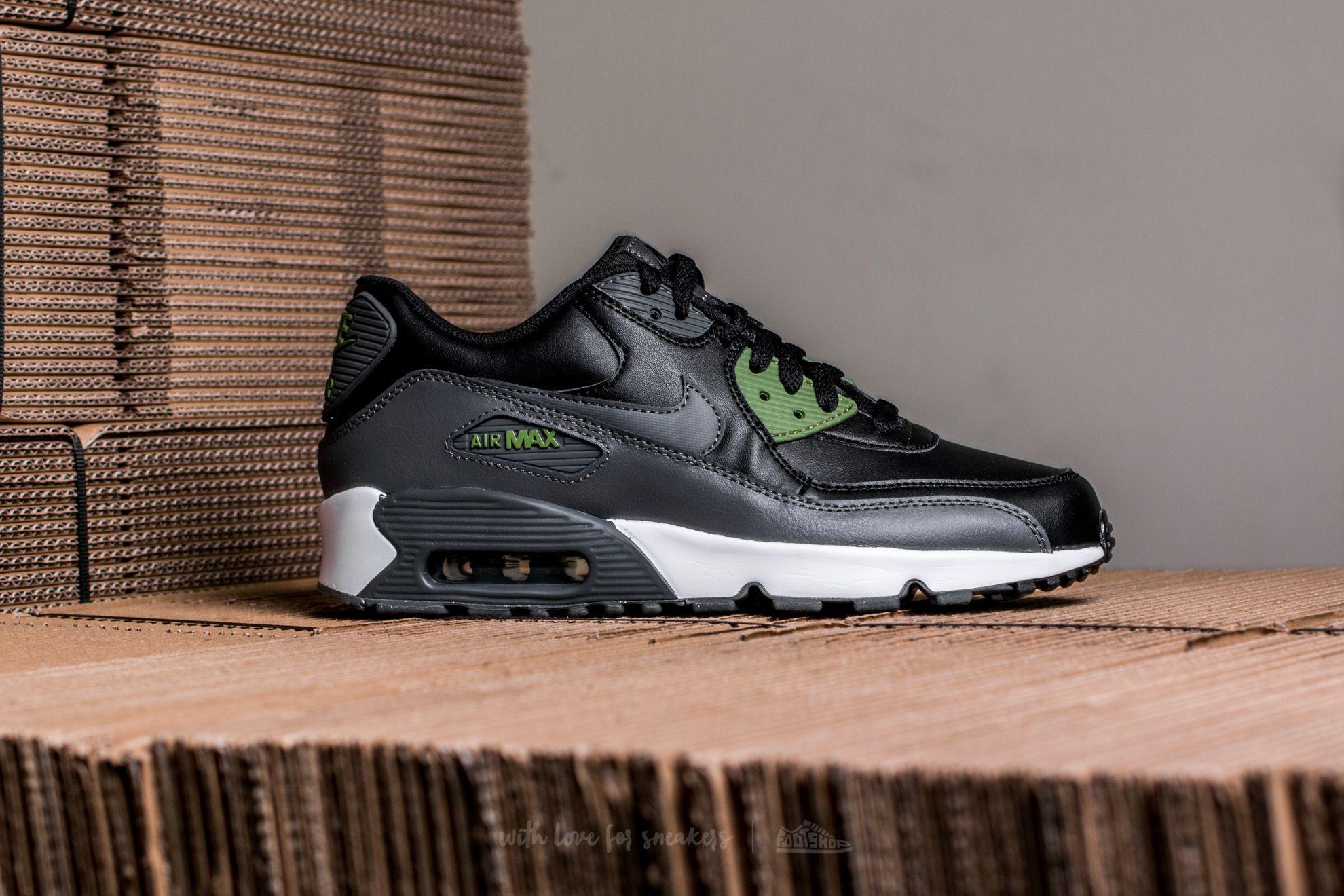 Nike NIKE AIR MAX 90 MESH (GS) BlackDark Grey Palm Green