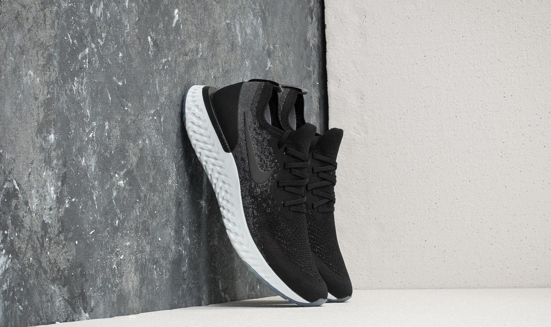 7cf200e9d51af Lyst - Nike Epic React Flyknit Black  Black-dark Grey in Black for Men