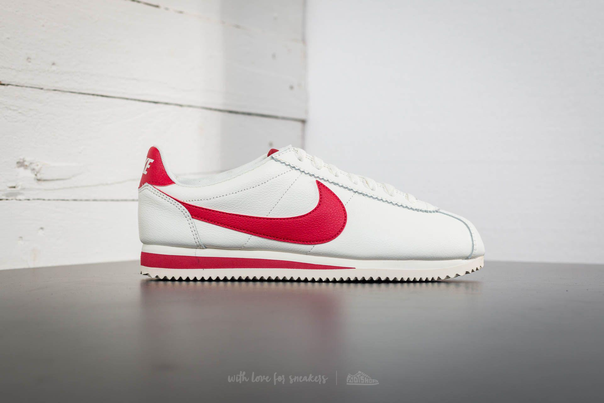 wholesale dealer 54d92 b4fa7 Nike Classic Cortez Leather Se Sail  Gym Red in Red for Men - Lyst