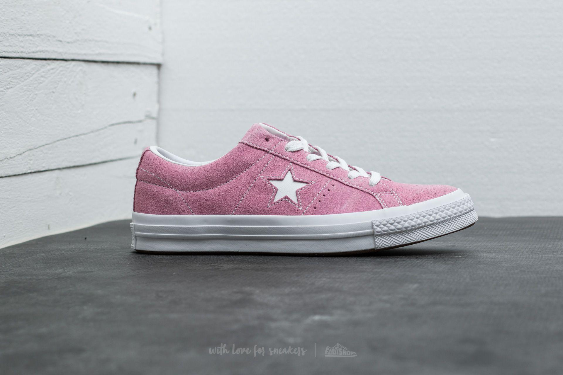 64a2dabfcd15b0 Lyst - Converse One Star Ox Pink Glow  White  White in Pink