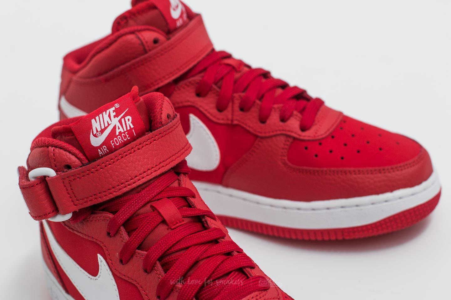 Lyst - Nike Air Force 1 Mid (gs) University Red  White in Red for Men afc2adb9d