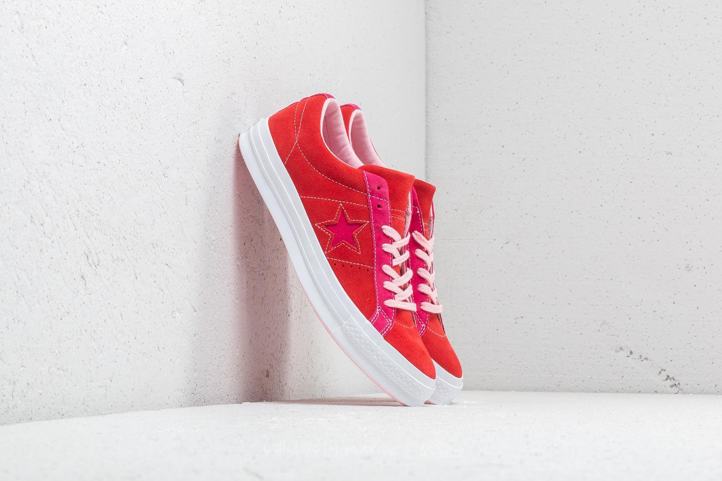8f0872e2cca Lyst - Converse One Star Ox Enamel Red  Pink Pop in Red for Men