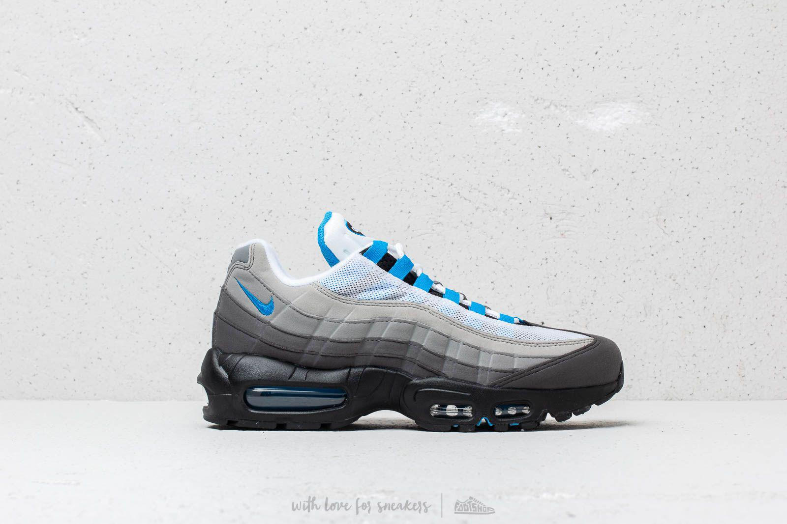 Nike - Air Max 95  99 White  Crystal Blue for Men - Lyst. View fullscreen 7f237b3a9fec