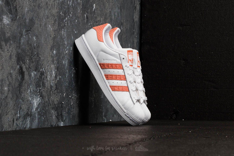 adidas Originals SUPERSTAR - Trainers - footwear white/chalk coral/offwhite YHHsg