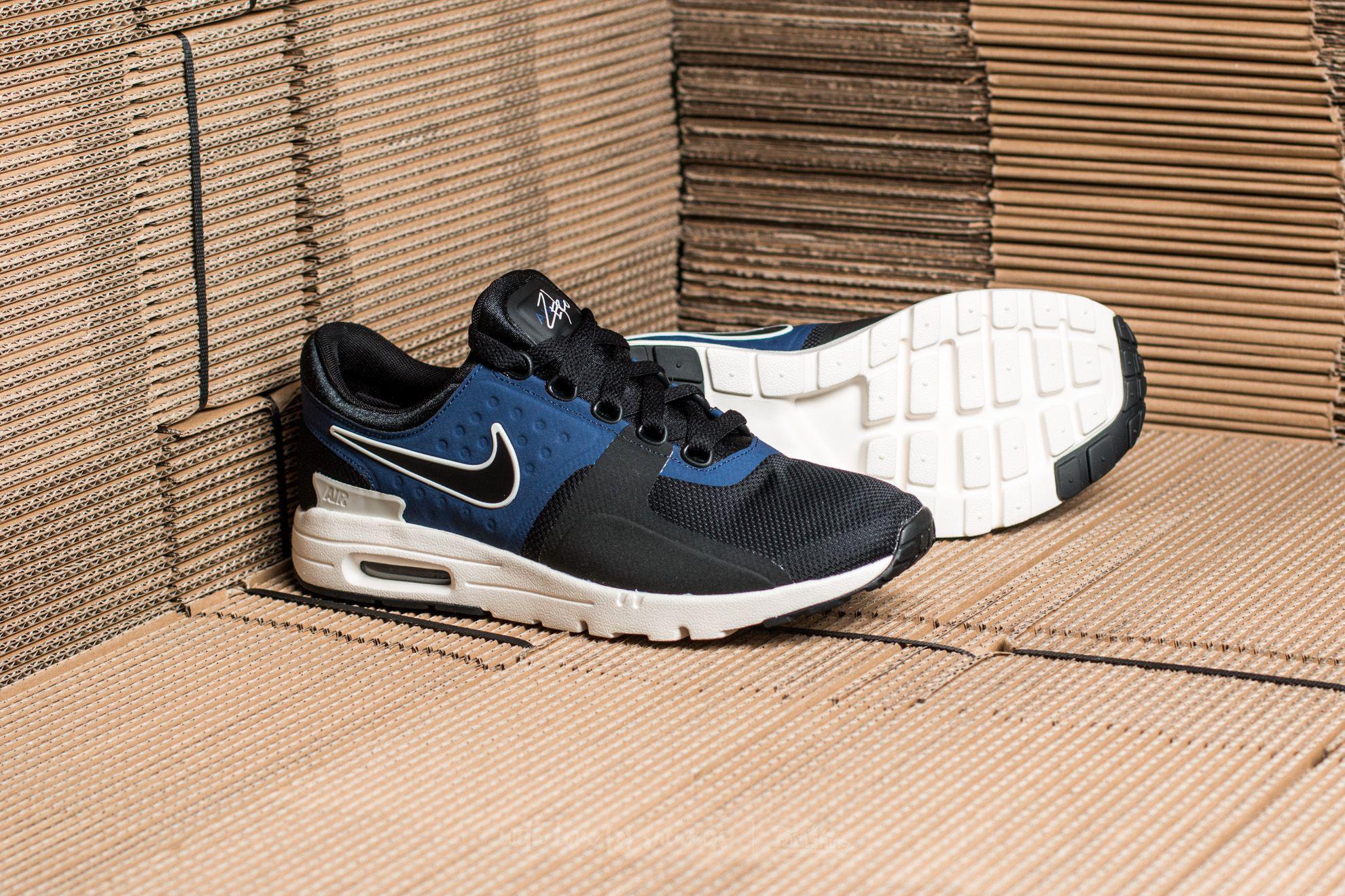 35ddde5644e Lyst - Nike W Air Max Zero Black  Black-ivory-binary Blue in Black