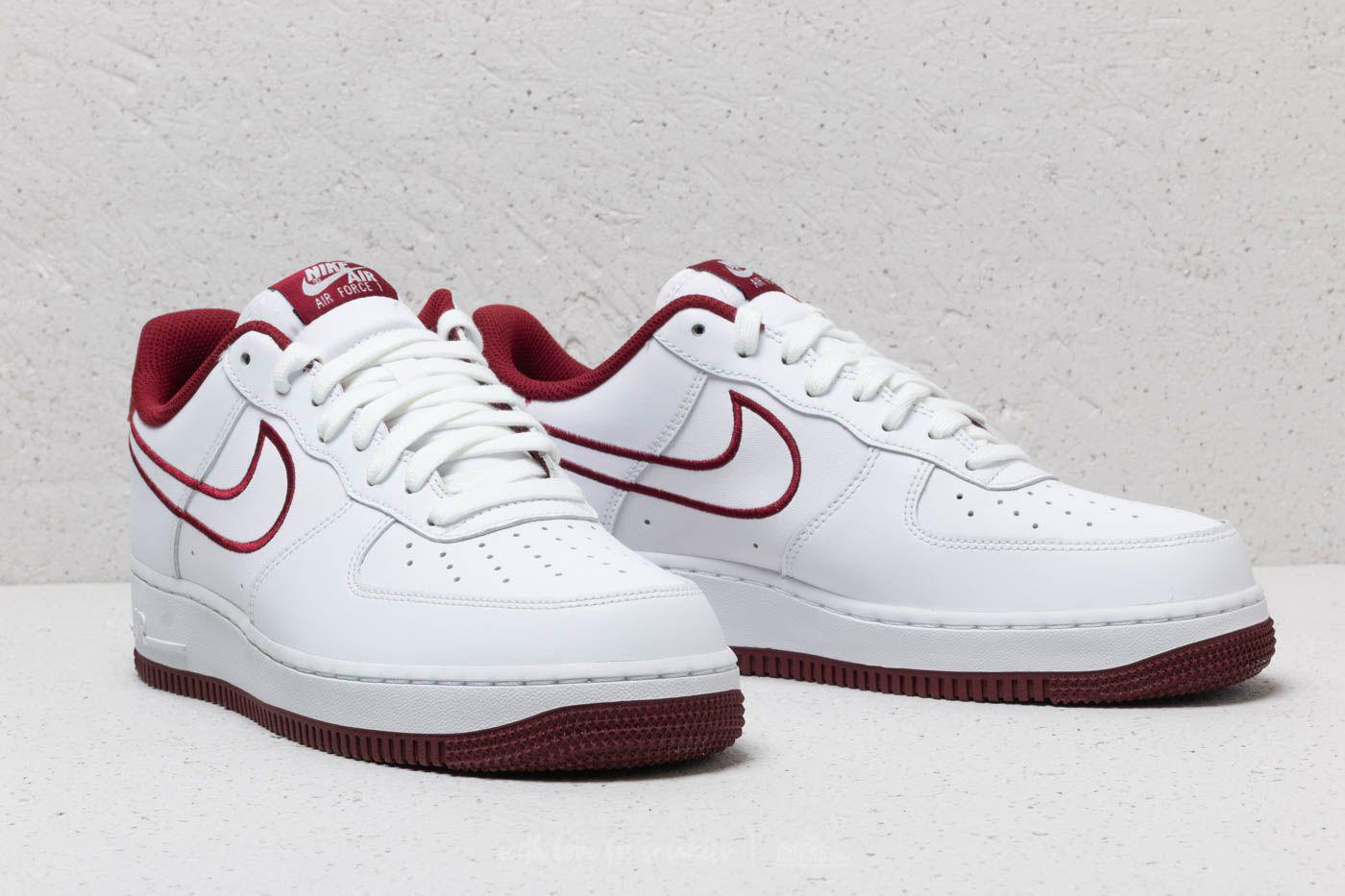 e34d5d2ef29e72 Lyst - Nike Air Force 1  07 Leather White  Team Red in White for Men