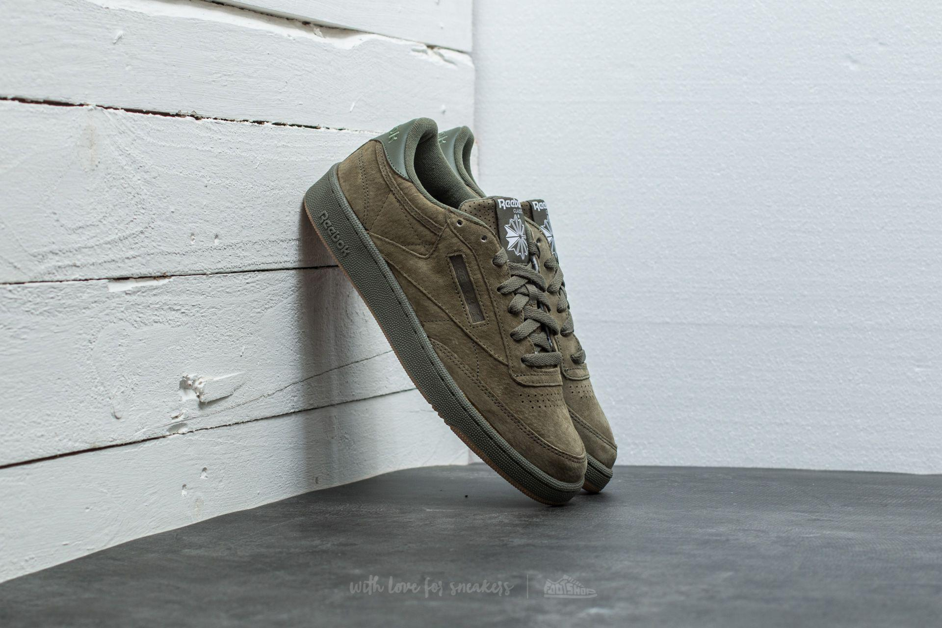 03e10913235fa ... White  Reebok Club C 85 Mcc CM9297 Mens Trainers in Light Green  Lyst   reebok ...