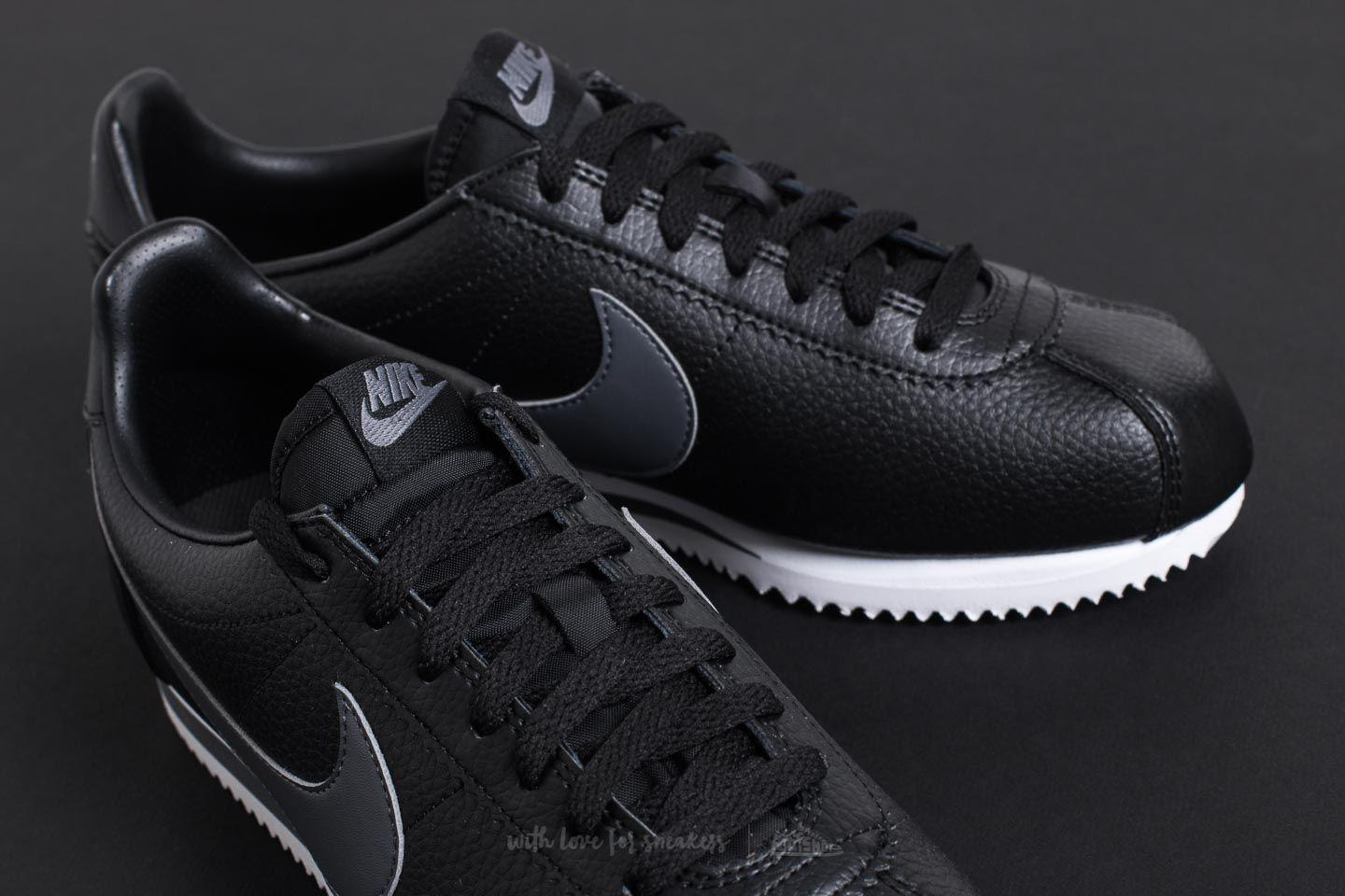 reputable site 36cfe bc2a4 Lyst - Nike Classic Cortez Leather Black Dark Grey-white in