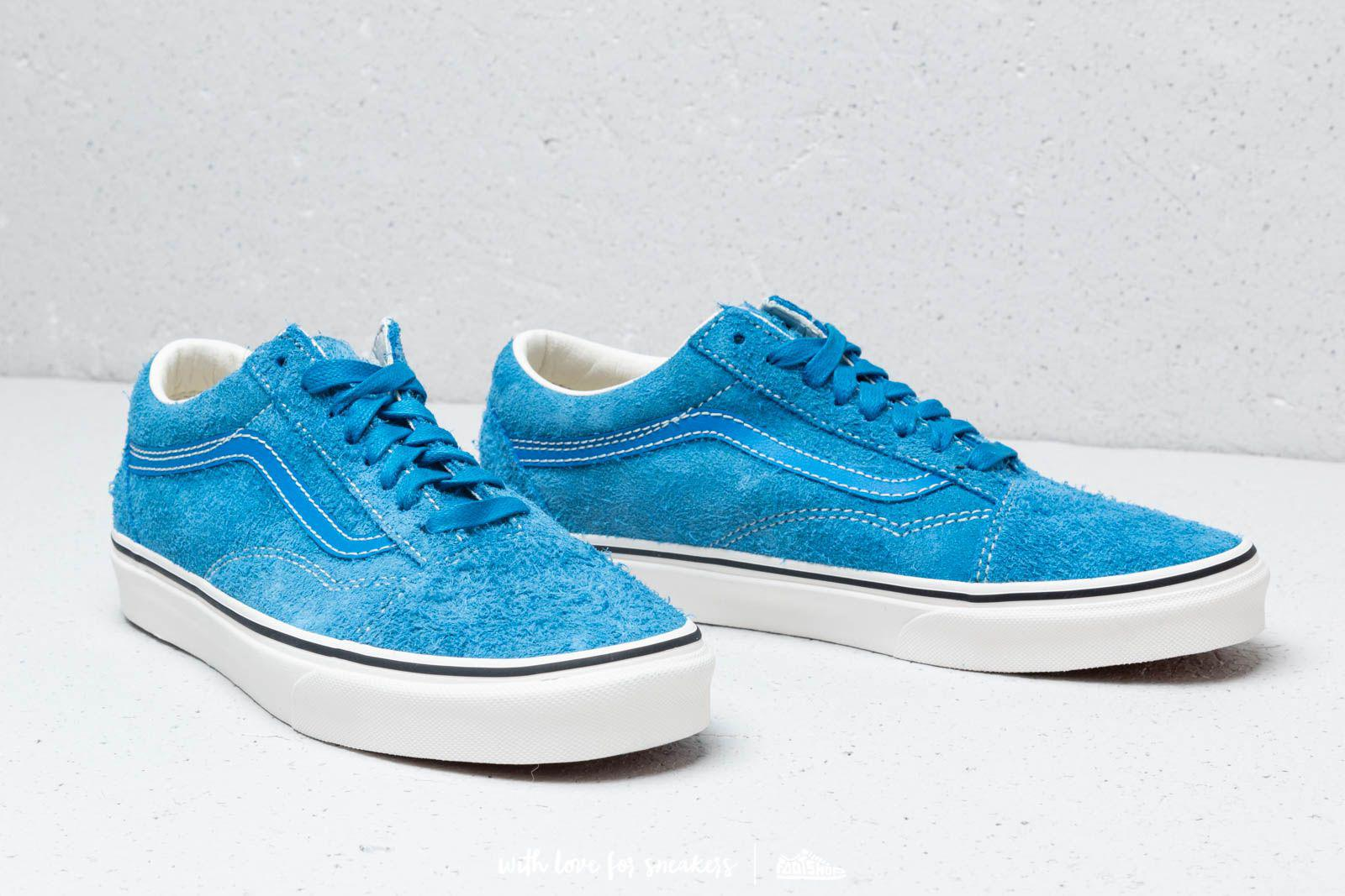 0c5ea32e53 Lyst - Vans Old Skool (hairy Suede) Indigo Bunting  Snow White in ...