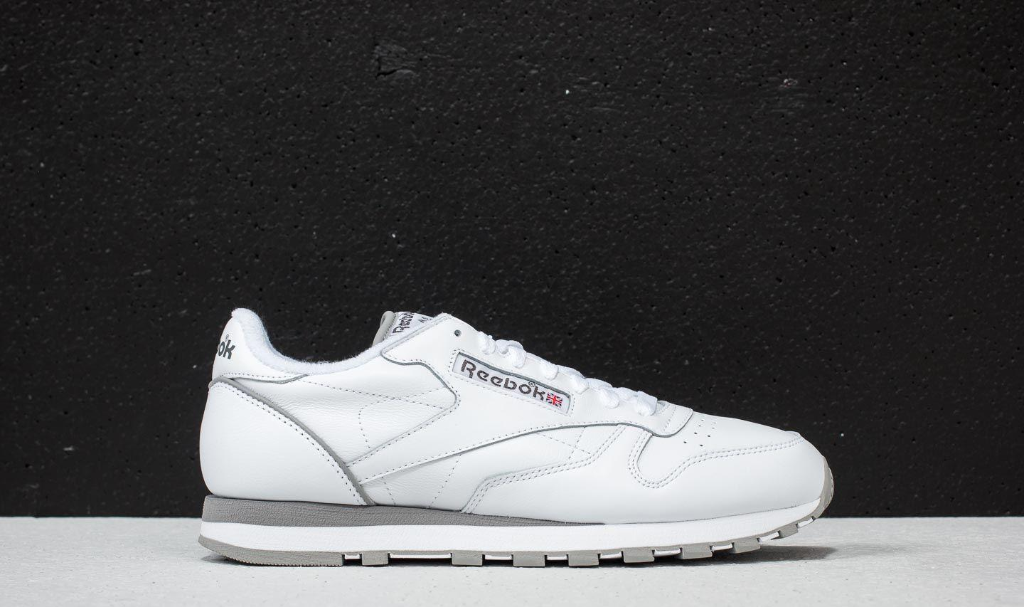 4541ce1538c31 Reebok - Leather Archive White  Carbon  Red  Grey for Men - Lyst. View  fullscreen
