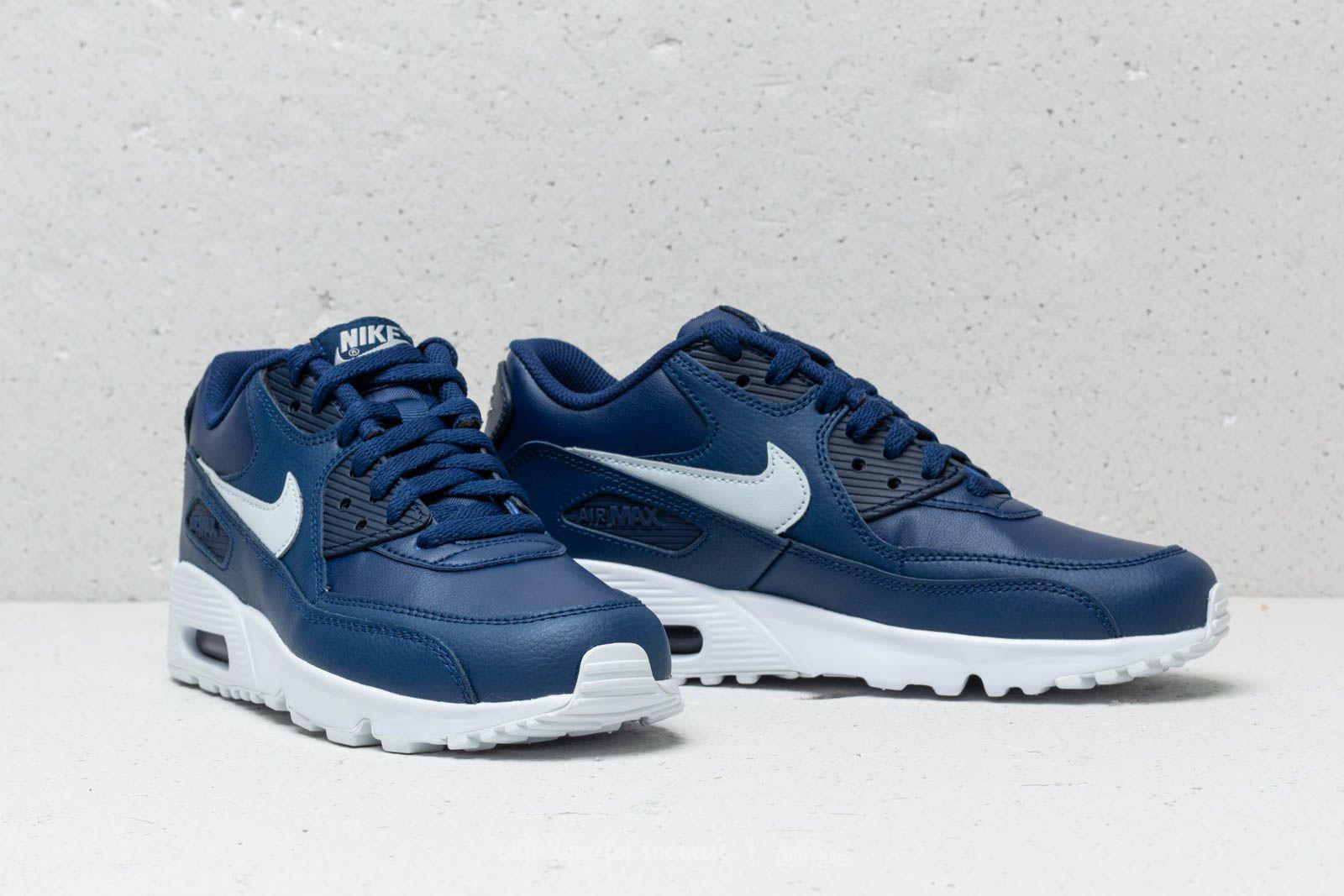 save off 4ca16 4d01a Nike Air Max 90 Ltr (gs) Blue Void  Pure Platinum-white in Blue - Lyst