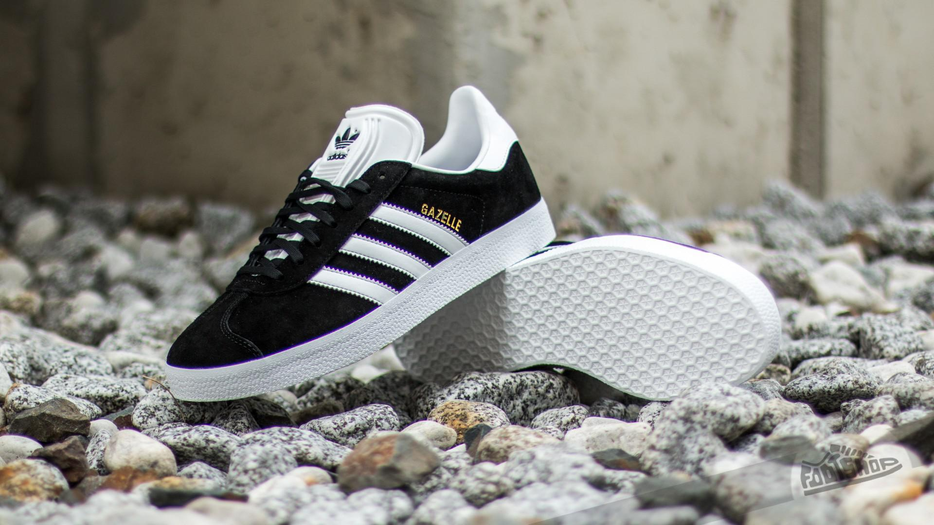 low priced e1a7d c923a Footshop - Multicolor Adidas Gazelle Core Black White Gold Metalic for  Men - Lyst. View fullscreen