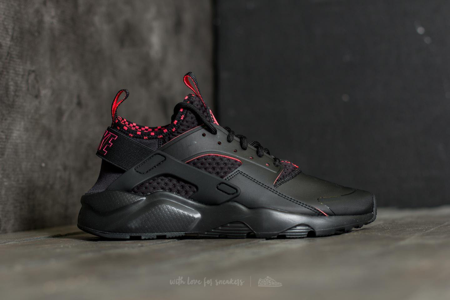 bfb23bb73dc8 Lyst - Nike Air Huarache Run Ultra Se Black  Solar Red-black in ...