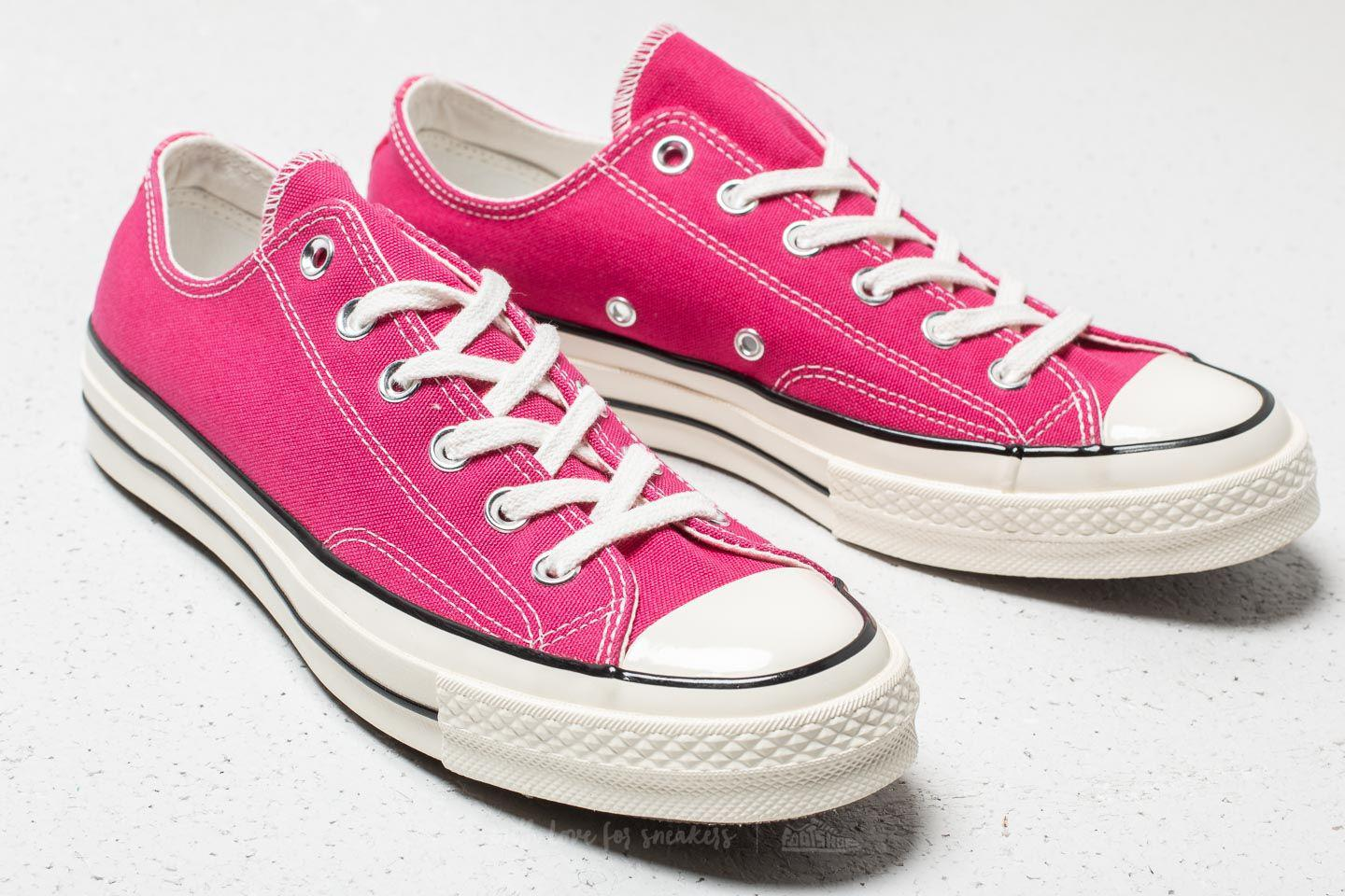 5c8be78683d64a Lyst - Converse Chuck 70 Ox Pink Pop  Black  Egret in Pink