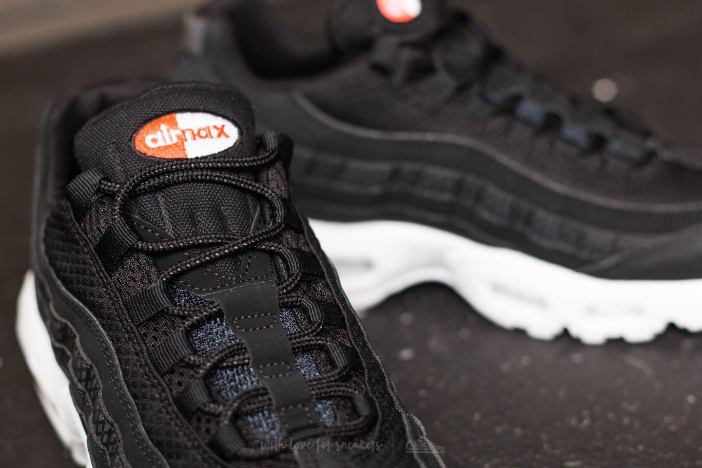 0a509b11b7b41c Lyst - Nike Air Max 95 Premium Se Black  Black-white-team Orange in ...