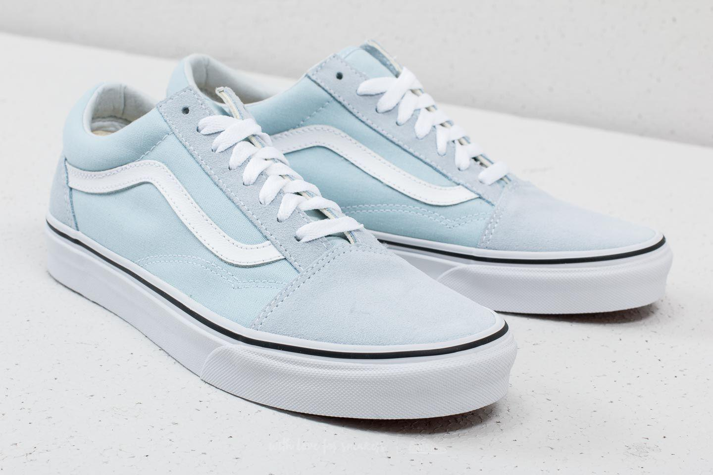 d4f7d9c390fdd5 Lyst - Vans Old Skool Baby Blue  True White