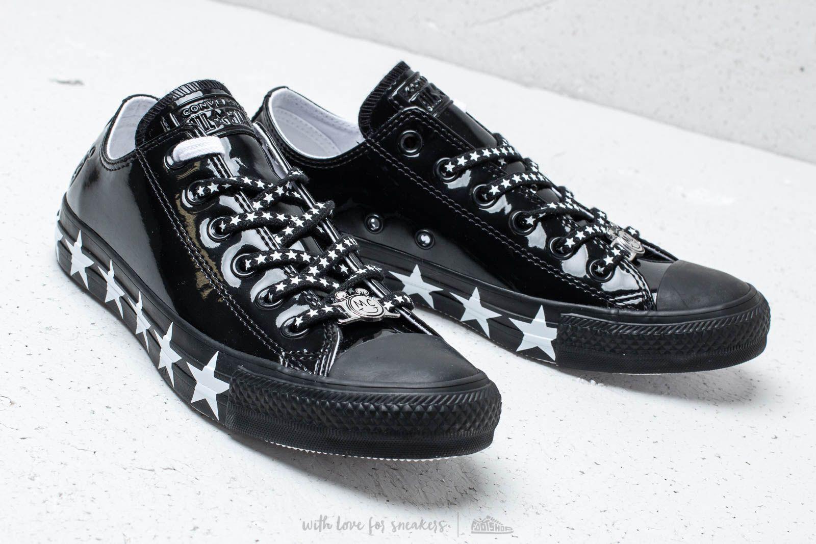 Lyst - Converse X Miley Cyrus Chuck Taylor All Star Ox Black  White ... 4937857e2