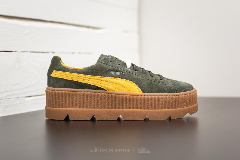 Lyst - Footshop Puma Fenty Cleated Creeper Suede Rosin-lemon-vanilla ... 5da829e3302