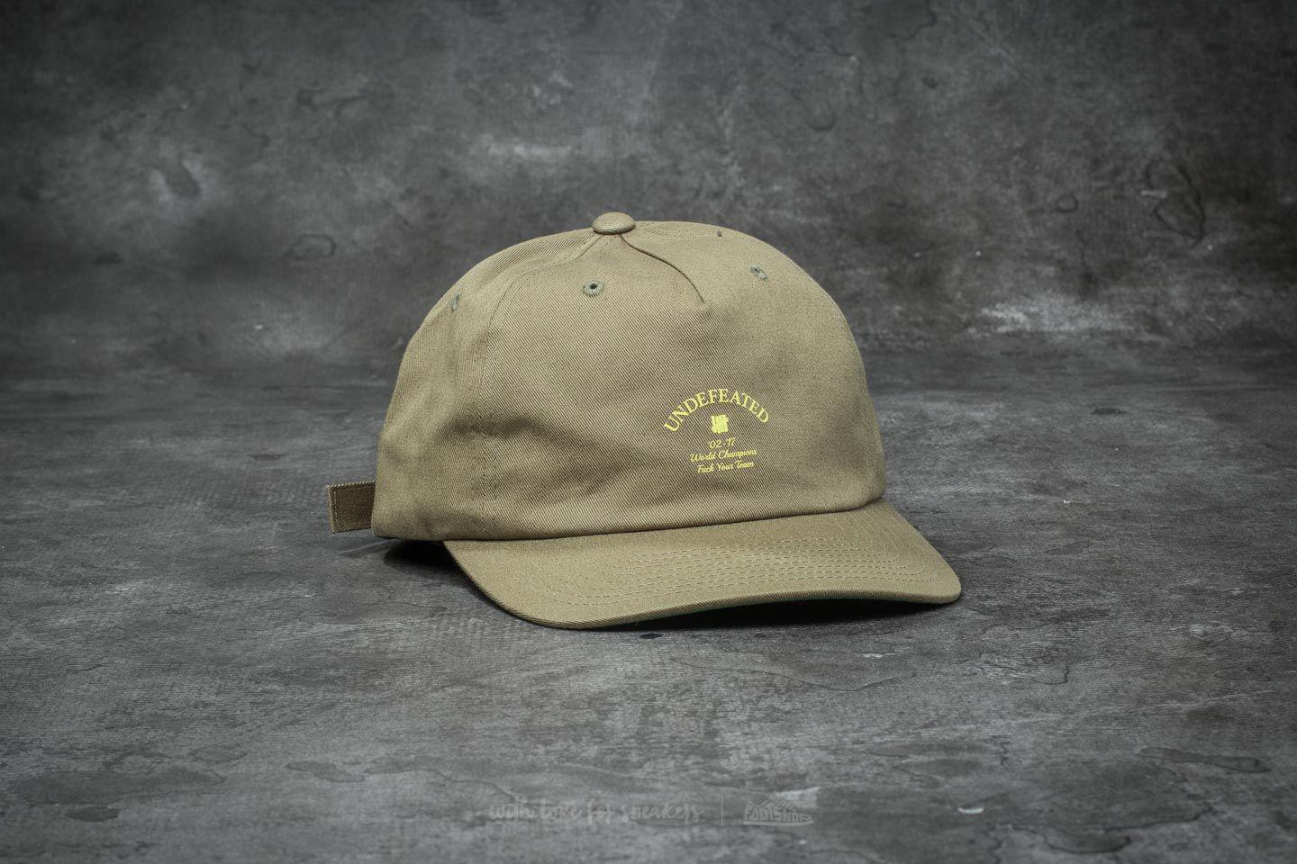 109c0349e91b8 coupon code for lyst footshop undefeated champions strapback cap olive in  green de560 2b469
