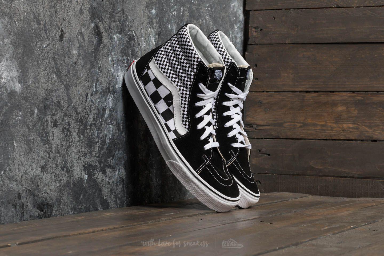 a9abc128e0e Vans Sk8-hi (mix Checker) Black/ True White in Black for Men - Lyst