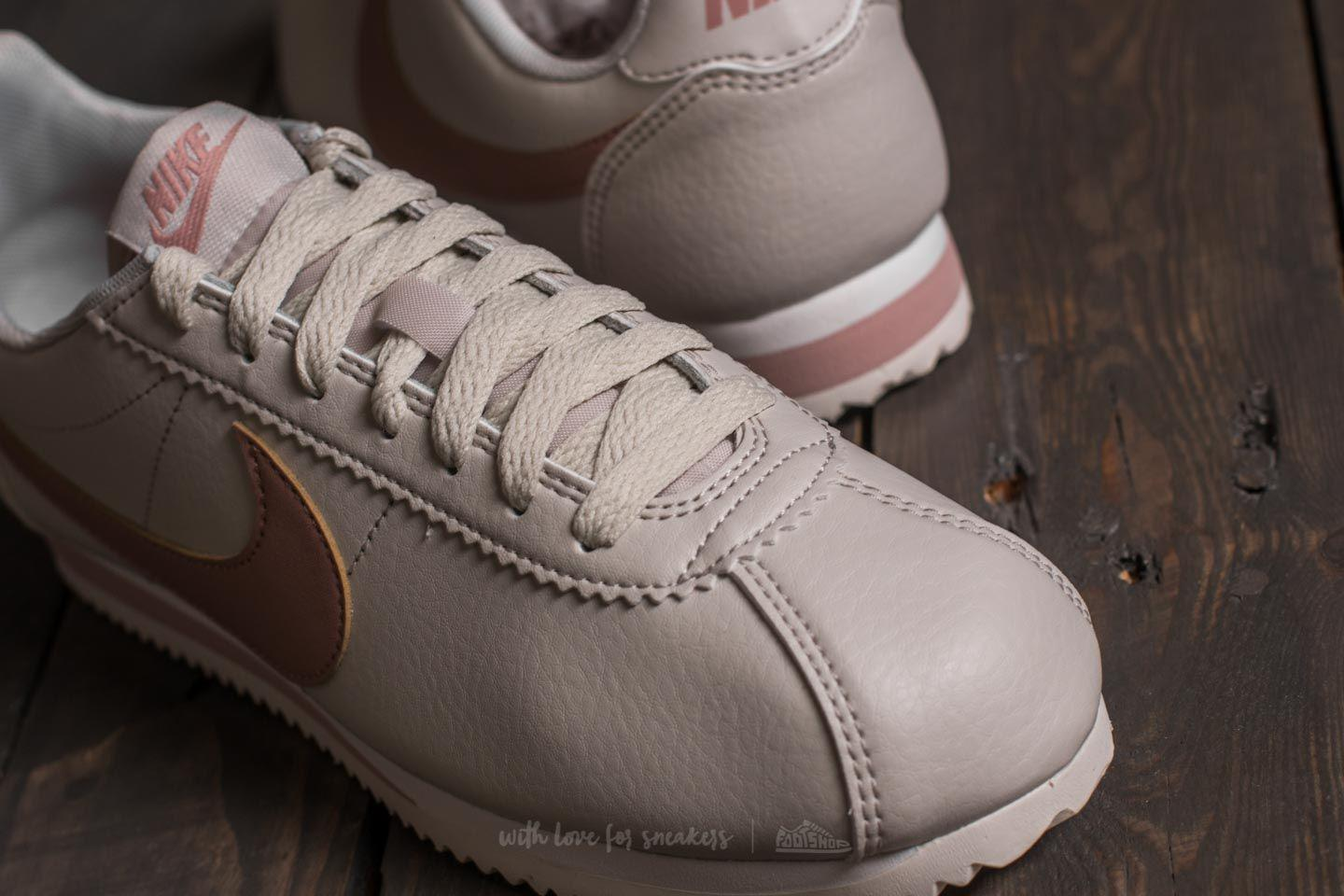 bfb7bb0d5 Lyst - Nike Wmns Classic Cortez Leather Light Bone  Particle Pink