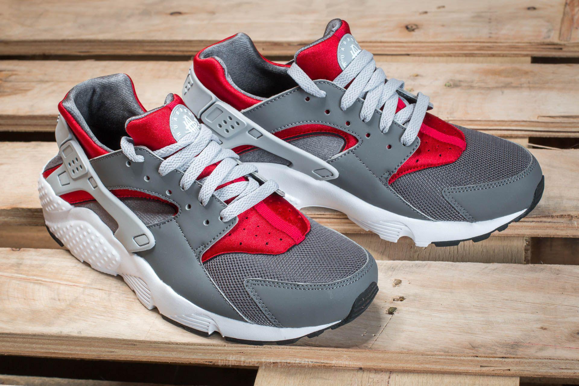 ed92c84a7e5b Lyst - Nike Huarache Run (gs) Dark Grey  Wolf Grey-gym Red in Gray