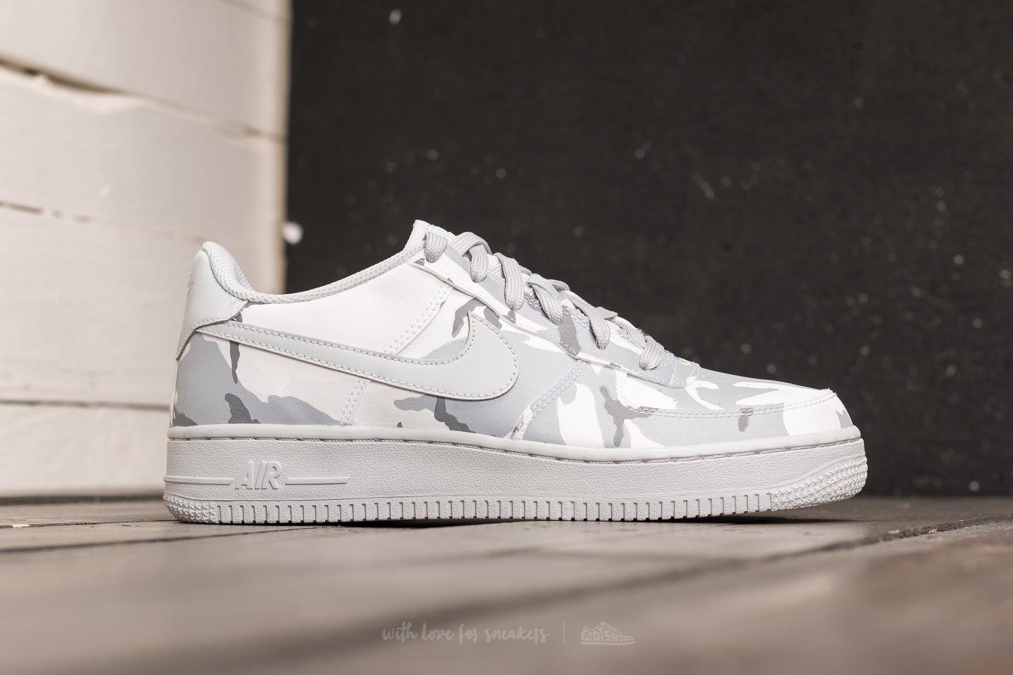 check out 603f1 aa15b Lyst - Nike Air Force 1 Lv8 (gs) White  Pure Platinum-wolf Grey in ...