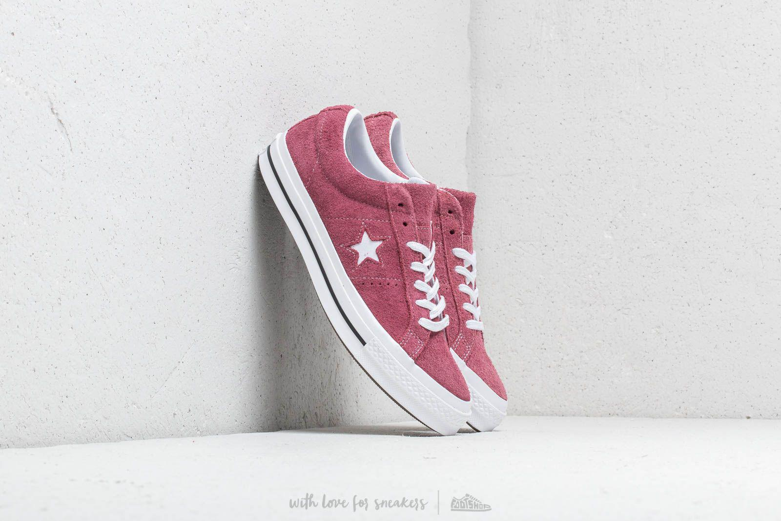 af2cd40b2ff Converse One Star Ox Deep Bordeaux/ White/ White in White for Men - Lyst