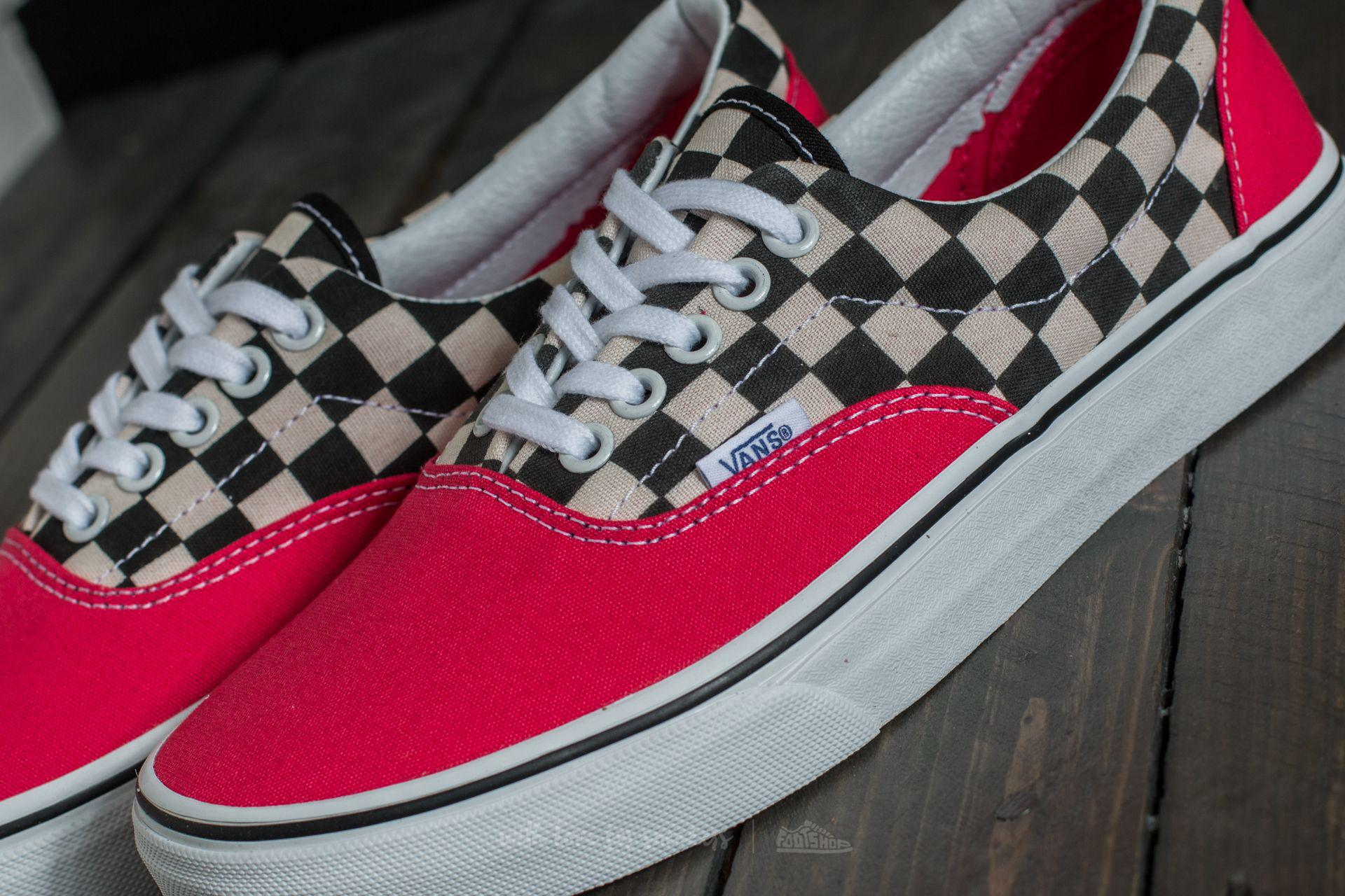 1d13b53b6a370f Lyst - Vans Era (2-tone Check) Rouge Red  True White in Red
