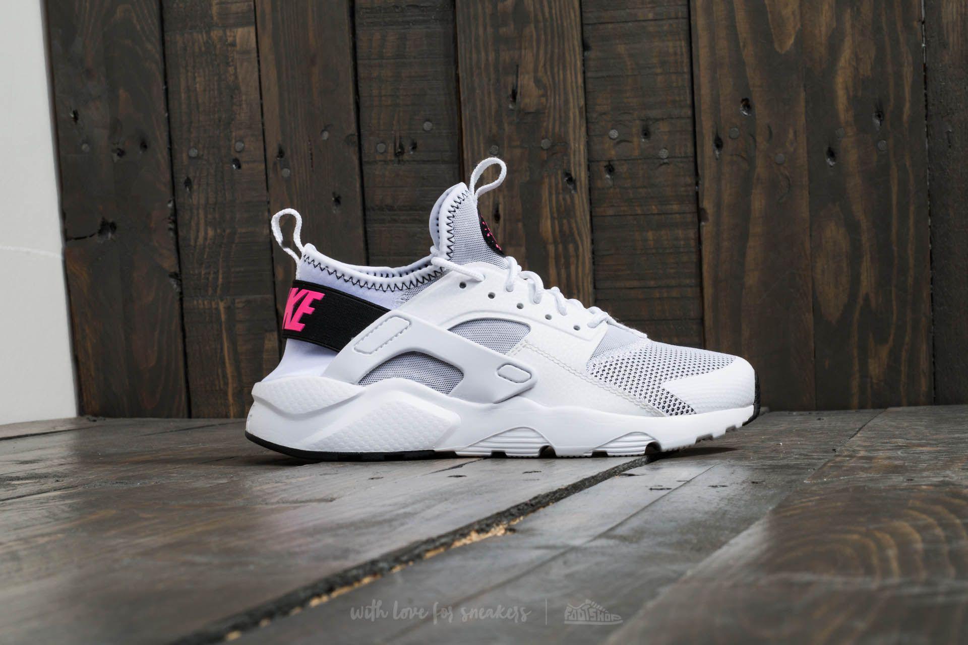 aae36ddf71fd Lyst - Nike Air Huarache Run Ultra Gs White  Black pink Blast