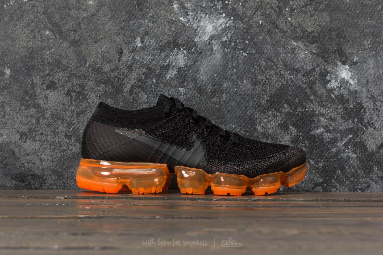 6de94ee1a5 Nike Air Vapormax Flyknit Black Pop Anthracite/ Black/ Rush Orange ...