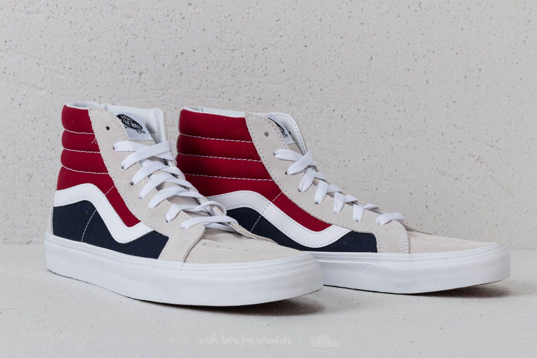 43ddae08575cec Lyst - Vans Sk8-hi Reissue (retro Block) White  Red for Men