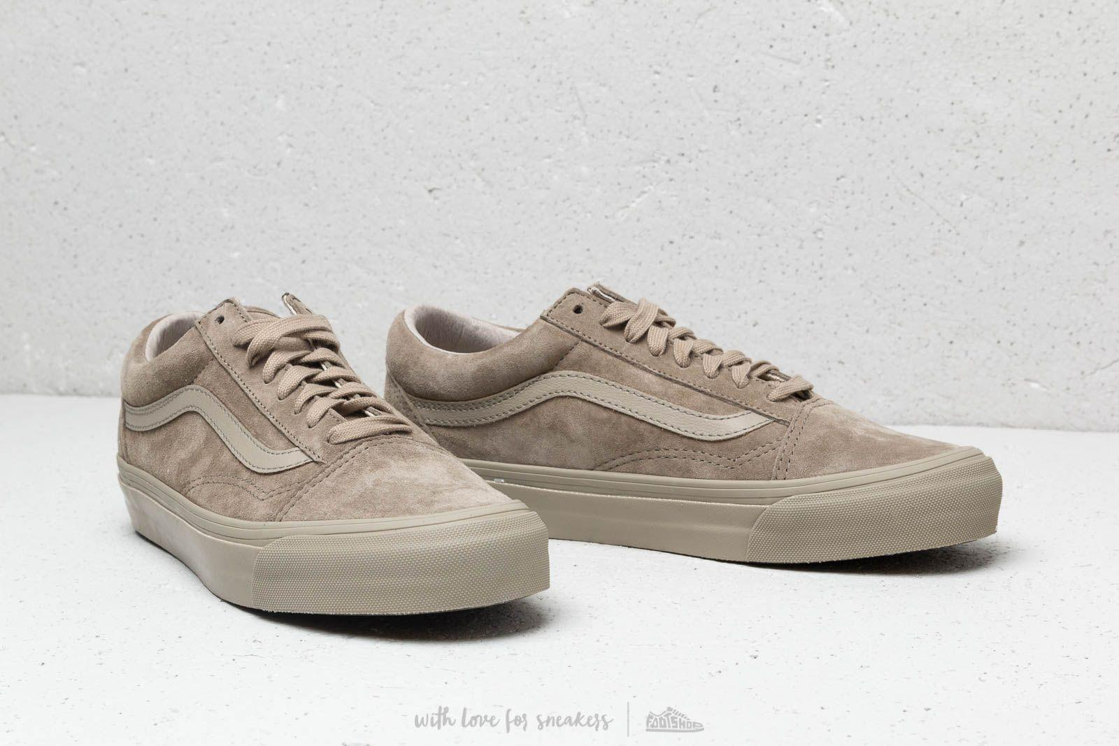 ebf116da38ae70 Lyst - Vans Og Old Skool Lx (leather  Suede) Plaze Taupe for Men