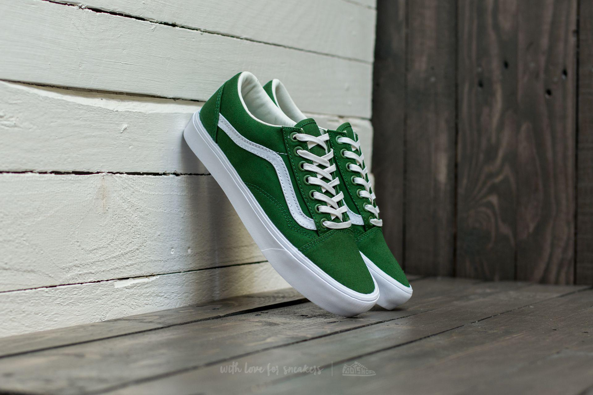 Lyst - Vans Old Skool Lite (canvas) Juniper  True White in Green 1d5ff40b9