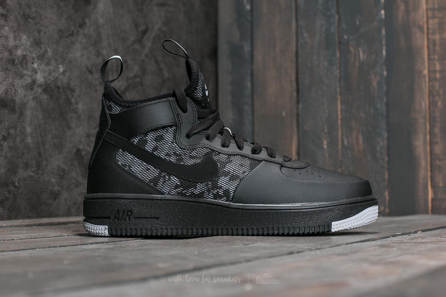 Lyst - Nike Air Force 1 Ultraforce Mid Black  Black-wolf Grey-white ... 73c0bbff4
