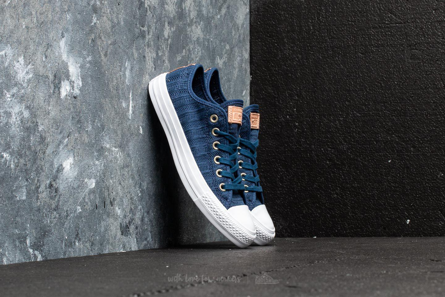7df73eaf4426 Lyst - Converse Chuck Taylor All Star Ox Navy  Tan  White in Blue