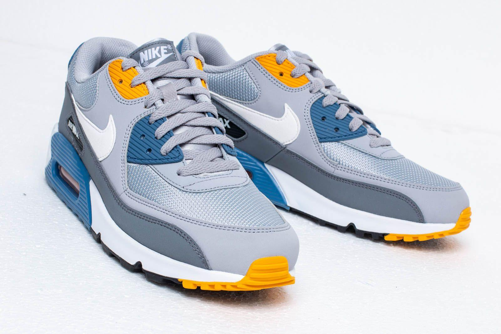 Nike - Gray Air Max 90 Essential Wolf Grey  White-indigo Storm for Men.  View fullscreen 5f0c454a6a6e8