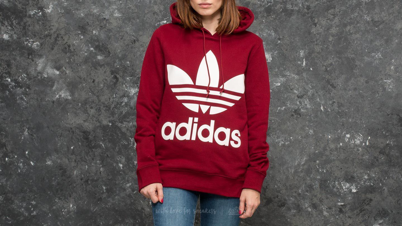Lyst - adidas Originals Adidas Trefoil Hoodie Collegiate Burgundy in Red 98fa3ea9bb5