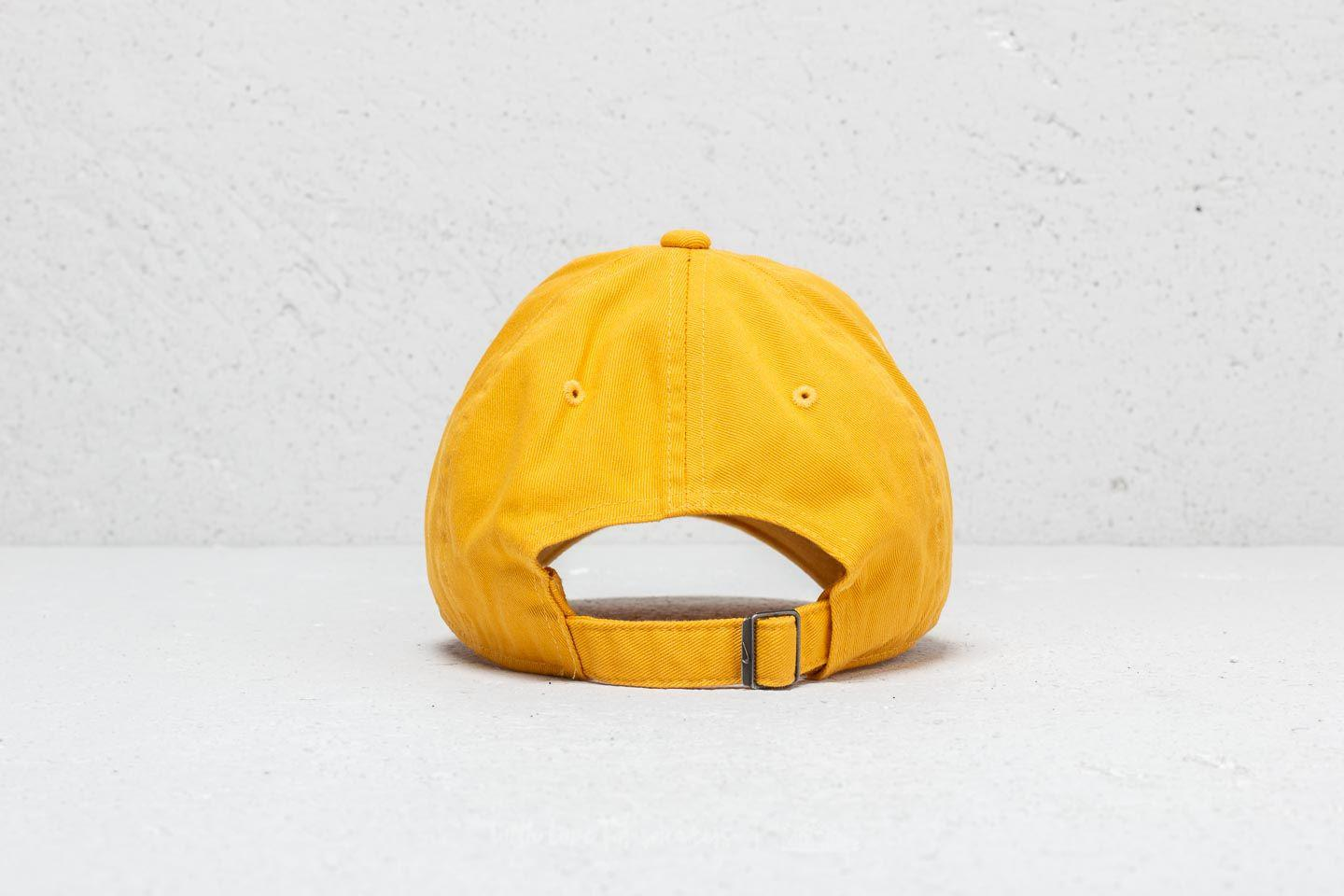 90cd6727f1e Lyst - Nike Heritage 86 Futura Washed Cap Yellow in Yellow for Men