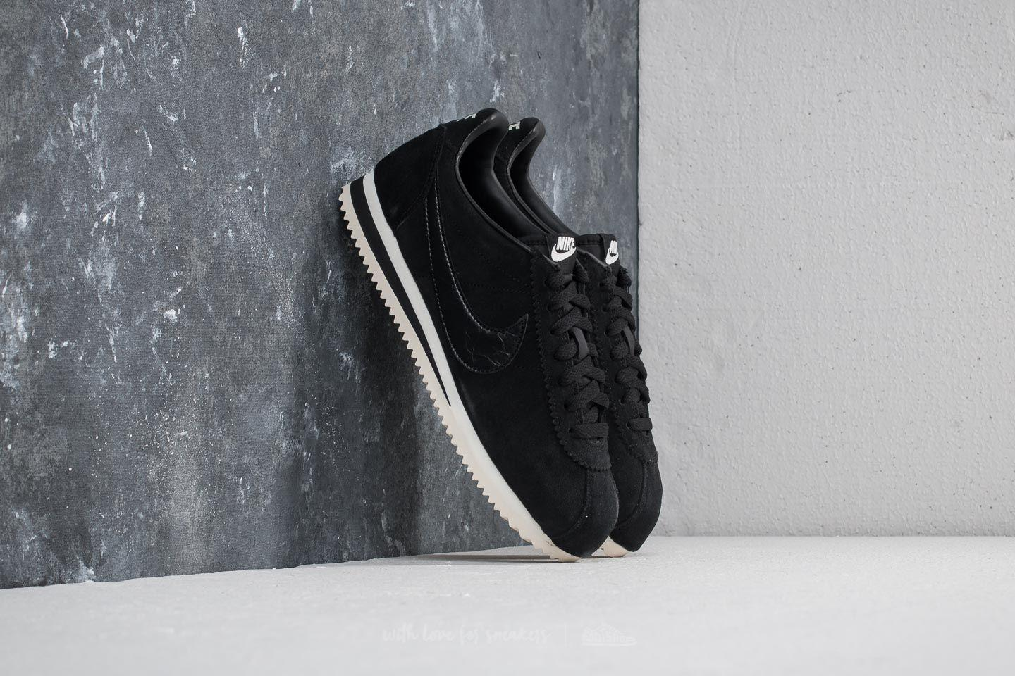 0049b8b48beb Lyst - Nike Classic Cortez Suede Wmns Black  Black-sail in Black for Men