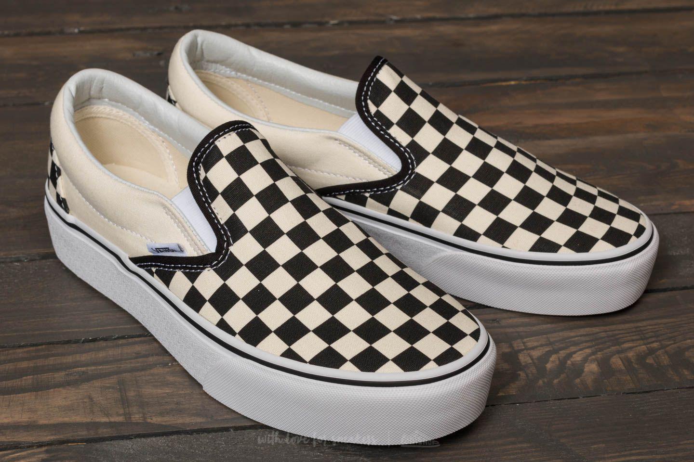 768c8ed529 Lyst - Vans Classic Slip-on Platform Black And White Checkerboard ...