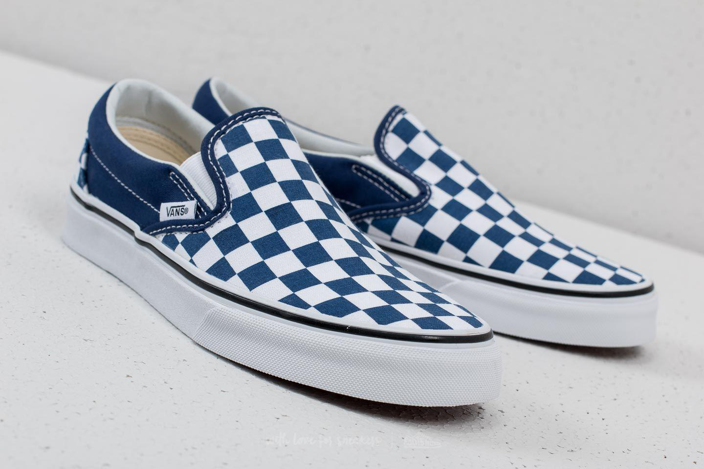 6c1ee8888c4588 Lyst - Vans Classic Slip-on (checkerboard) Estate Blue in Blue for Men